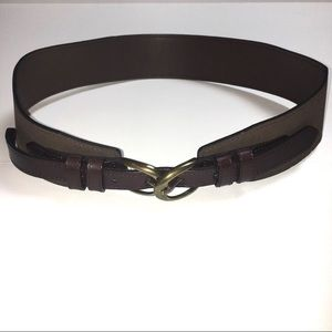 NWT Target Thick Brown Belt with gold buckle
